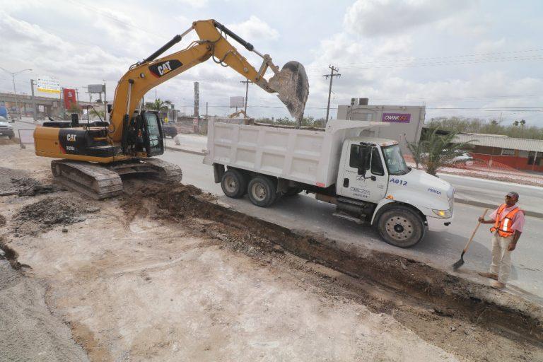 Pavimentación de avenida Lauro Villar, una de las obras más importantes del Alcalde Mario López