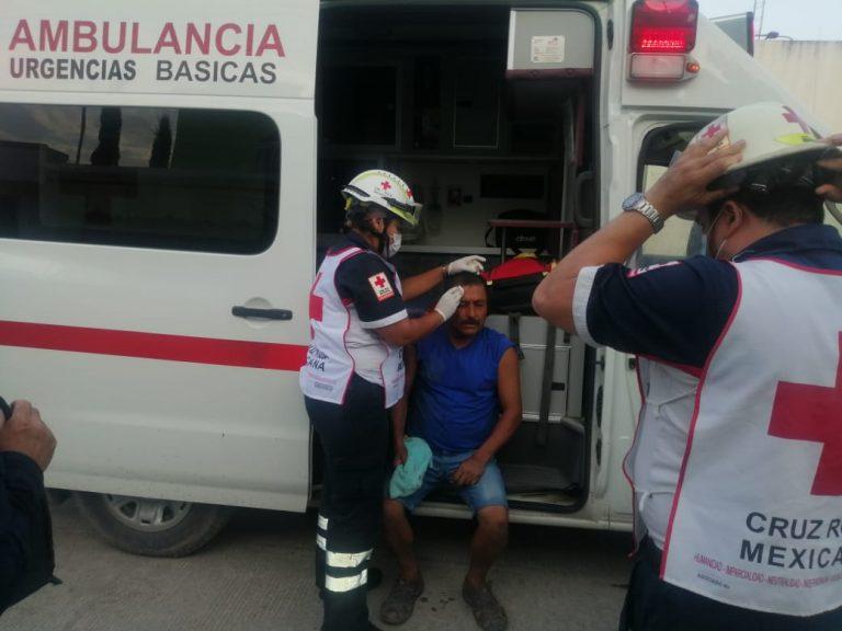 Ciclista derrapa y resulta con herida en la cabeza