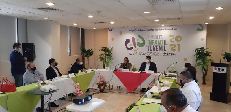Integran en Tamaulipas el Grupo Coordinador Interinstitucional para la Consulta Infantil y Juvenil 2021