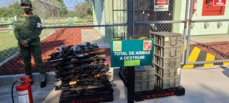 Destruye Ejercito Mexicano armas y municiones en Reynosa
