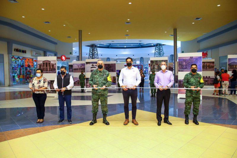Inauguró Alcalde exposición fotográfica de SEDENA